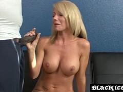 Blonde BBC Cum Slut Interracial Pussy Pounding