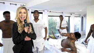 Nympho Blonde Interracial Gangbang Cum Slut