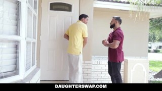 Step Daughters Swapping Daddy Cock