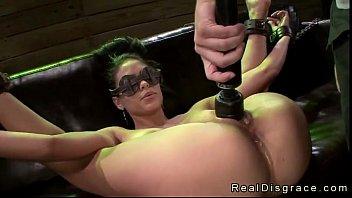 Bondage Porn Submissive Blindfolded Jasmine Caro Machine Fucked