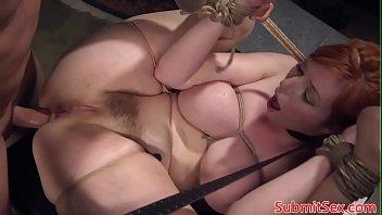 Redhead Submissive Tied Bondage Pussy Fuck